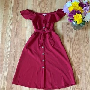 ❤️ NWT Shein midi red dress